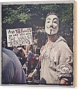Ows Occupy Wall Street Wood Print