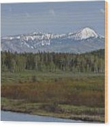 Oxbow Bend Wood Print by Charles Warren