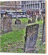 Oxford England Graveyard Wood Print