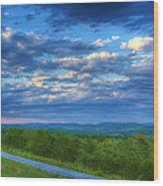 Ozark Pasture At Dusk Wood Print