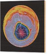 Ozone Hole Over Antarctica Wood Print