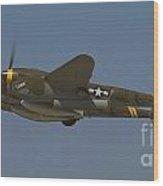 P-38 Cruising Wood Print