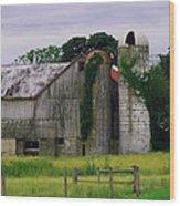 Pa Barn Wood Print by Dottie Gillespie