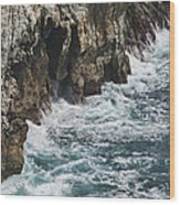 Pacific Coast Highway Seascape Wood Print