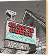 Pacific House Wood Print
