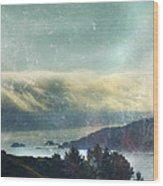 Pacific Ocean Fog Bank  Wood Print