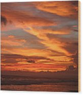 Pacific Sunset Costa Rica Wood Print