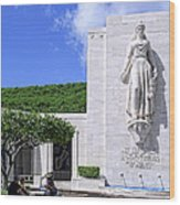 Pacific Theater War Memorial - Honolulu Wood Print