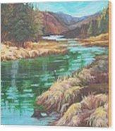 Pack River Color Wood Print