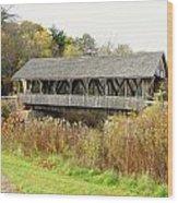 Packard Hill Covered Bridge Wood Print