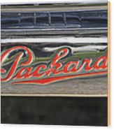 Packard Name Plate Wood Print