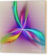 Pacock-feathers Wood Print
