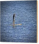 Paddle Boarding Wood Print
