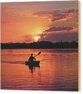 Paddle To Home Wood Print