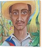 Padre Tierra Wood Print by Xiomara Aleksic
