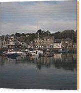 Padstow Harbour Wood Print