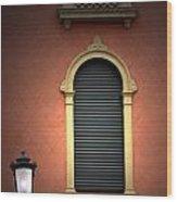 Padua Window And Lamp Light Padua Italy Wood Print
