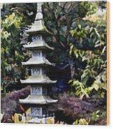 Pagoda Tower Of Zen Wood Print