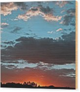 Pagosa Springs Colorado Sunset Wood Print