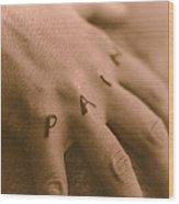 Pain Wood Print