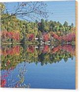 Paint Lake  Muskoka Canada Wood Print