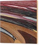 Paint Strokes Wood Print