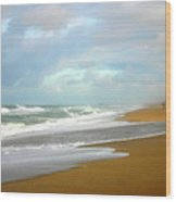 Painted Beach Wood Print