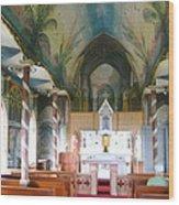 Painted Church Of Hawaii Wood Print