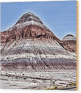 Painted Desert Mounds Wood Print