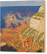 Painted Grand Canyon Before Sunset Wood Print