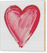 Painted Heart - Symbol Of Love Wood Print