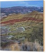 Painted Hills At Dusk Wood Print