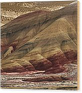 Painted Hills Grooves Wood Print