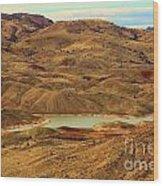 Painted Hills Lake Wood Print