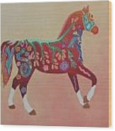 Painted Horse B Wood Print