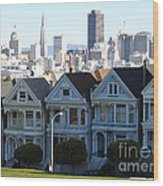 Painted Ladies Wood Print by Linda Woods