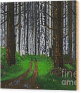 Painted Lady Migration Wood Print