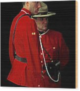Painted Mounties Wood Print
