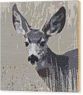 Painted Muley Wood Print