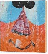 Painted Pumpkin 1 Wood Print