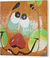 Painted Pumpkin 3 Wood Print