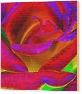 Painted Rose 1 Wood Print