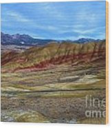 Painted Sky Over Painted Hills Wood Print