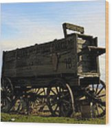 Painted Wagon Wood Print