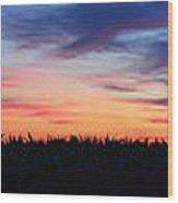 Painterly Skyline Wood Print