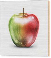 Painting Of Apple Wood Print