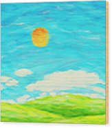Painting Of Nature In Spring And Summer Wood Print