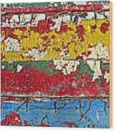 Painting Peeling Wall Wood Print by Garry Gay