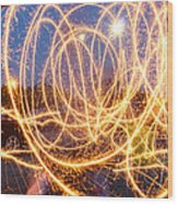 Painting With Sparklers Wood Print by Gordon Dean II
