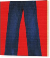 Pair Of Jeans 2 - Painterly Wood Print